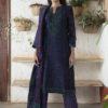 Purple/pink stitched chanderi kurta set with pleated sleeves